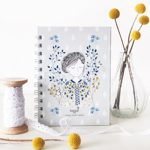 Spiral Mini Notebook - Dreamy Lady