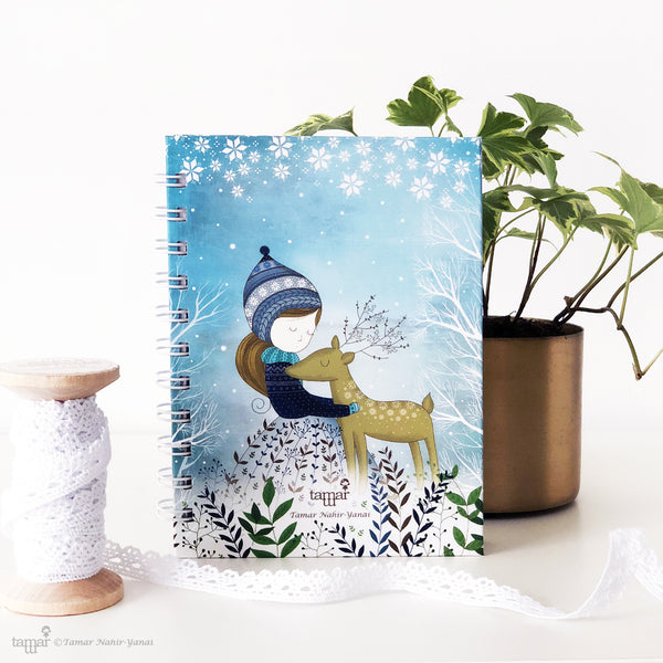 Spiral Mini Notebook - Golden Deer