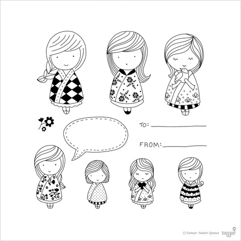 Stamp Sets Babushka Dolls