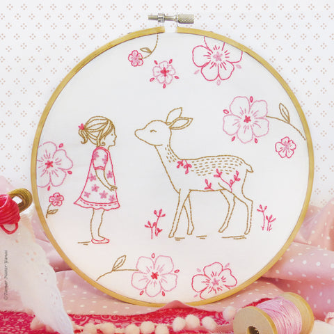 "Bambi Girl - 8"" embroidery kit"