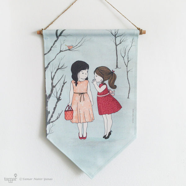 Banner Flag - Two Girls and a Secret