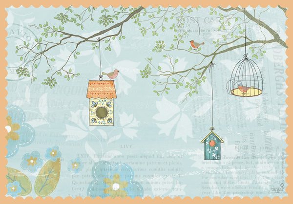 Birds House print wall art