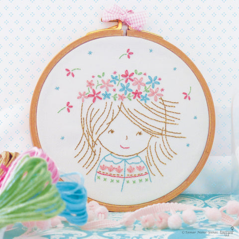 "Birthday Girl - 6"" embroidery kit"