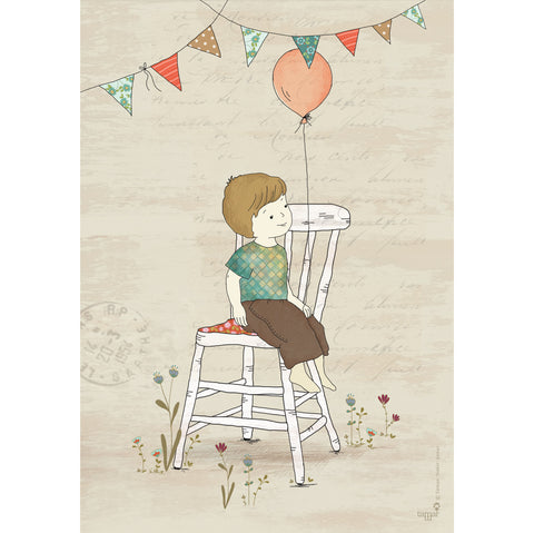 Birthday Boy print wall art