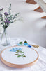 "Blue Plumbago - 6"" embroidery kit"