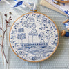 "Blue Ocean - 8"" embroidery kit"