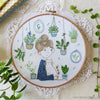 "Hair Bun Girl - 8"" embroidery kit"