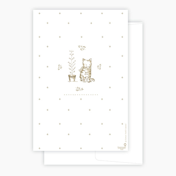 Cat and scarf Card