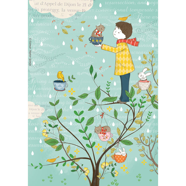 Cats Tree print wall art