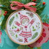 "Christmas Girl - 4"" embroidery kit"