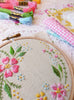 "Circle of flowers - 4"" embroidery kit"