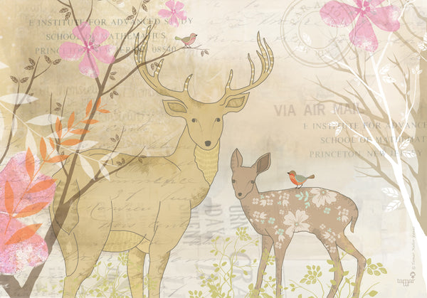 Deer print print wall art