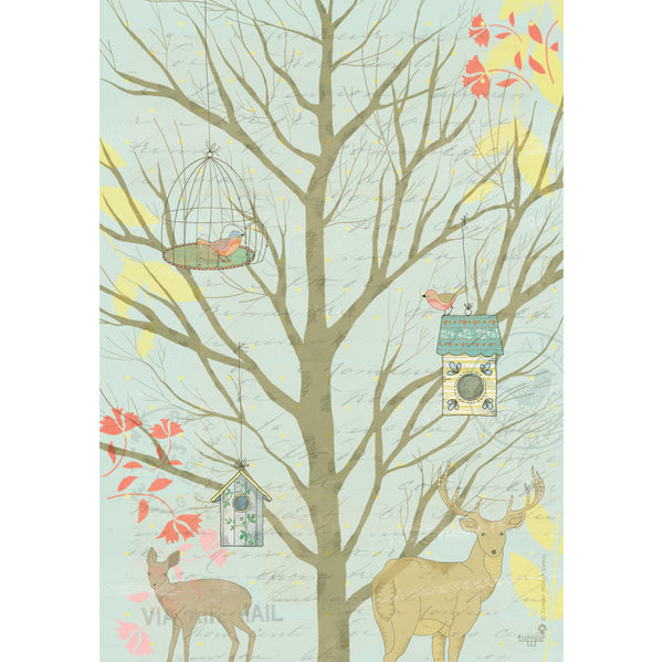Dutch forest print wall art