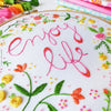 "Enjoy Life - 6"" embroidery kit"