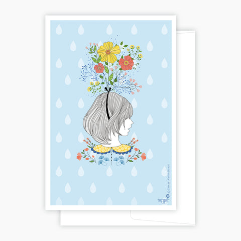 Floral Lady Card