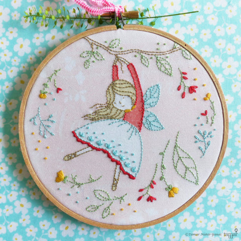 "Flying Fairy - 6"" embroidery kit"