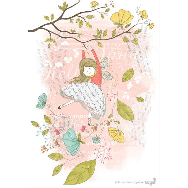 Flying Fairy print wall art