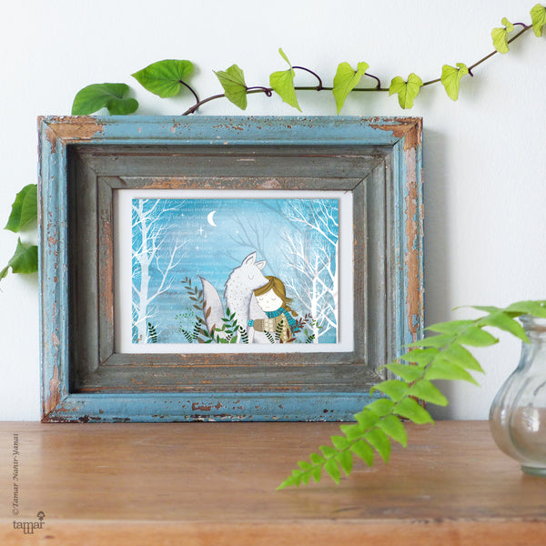 Winter Fox print wall art
