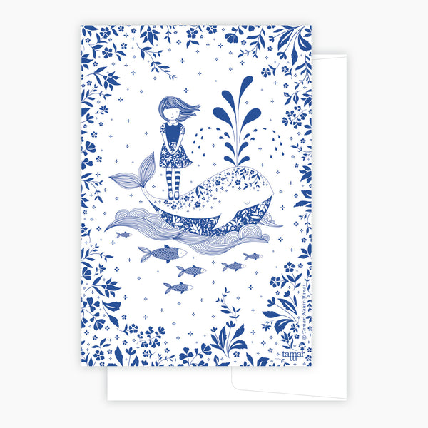 Girl and a Whale Card