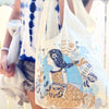 Girl in Sky Blue Tote Bag