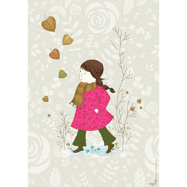 Girl in a Pink Coat print wall art