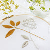"Gold & Gray Leaves - 4"" embroidery kit"