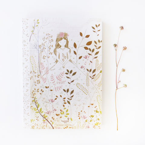 Gold & Gray Princess Notebook