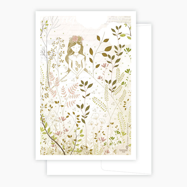 Gold & Gray Princess Card