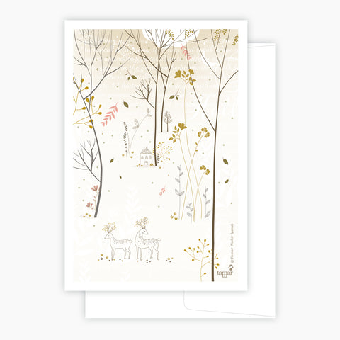 Gold & Gray Woods Card
