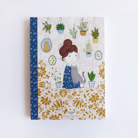 Hair Bun Girl Notebook