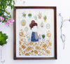 Hair Bun Girl print wall art