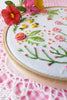 "Happy Garden - 4"" embroidery kit"