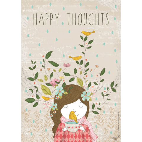 Happy Thoughts print wall art