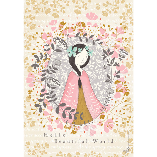 Hello Beautiful World print wall art