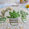 "Houseplants - 4"" embroidery kit"