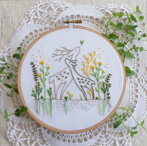 "Love Story - 6"" embroidery kit"