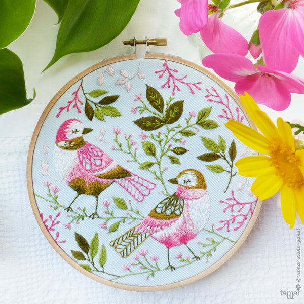 "Love Birds - 6"" embroidery kit"