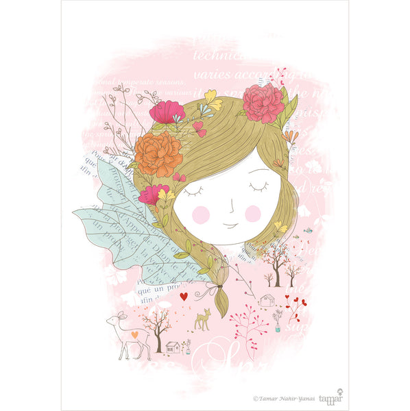 Miss Spring print wall art