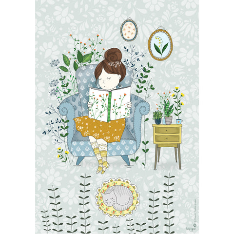 Reading Time print wall art