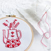 "Red Vase - 4"" embroidery kit"