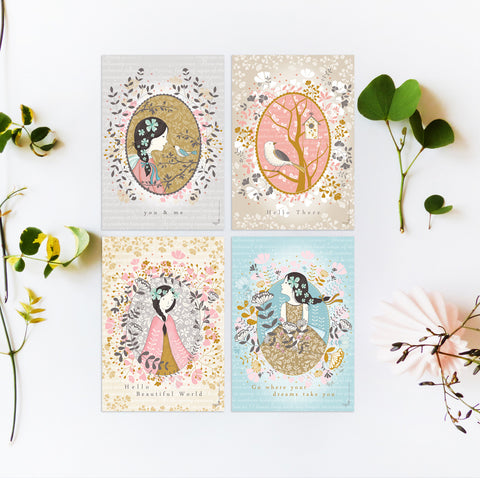 Secret Garden series - Complete set of 4 cards