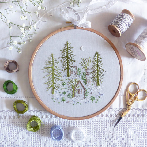 "Snowy Night - 6"" embroidery kit"