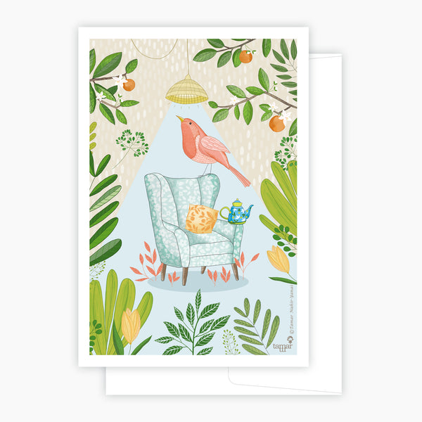 Tea Bird Card