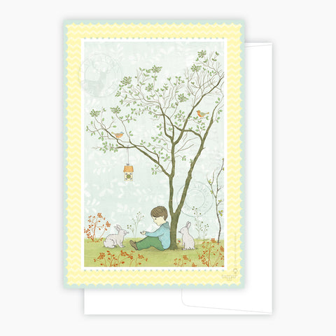 Tree and rabbit Card