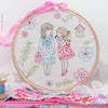 "Two Girls and a Secret - 8"" embroidery kit"