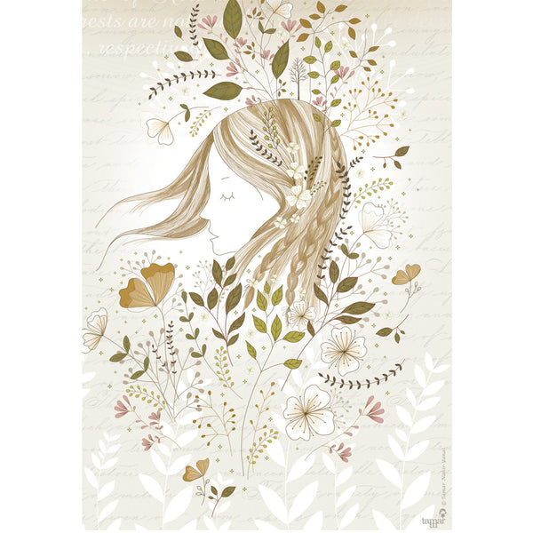 Windy Gold & Gray print wall art
