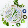 "Windy Leaves - 6"" embroidery kit"