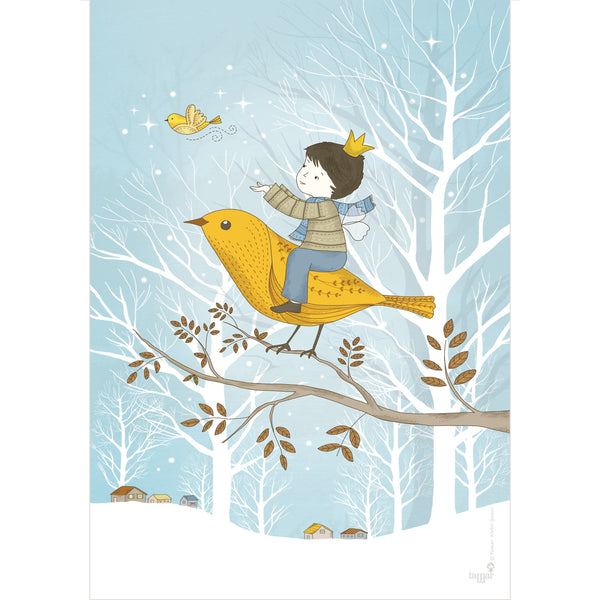 Winter Prince print wall art