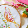 "Yellow Bird - 6"" embroidery kit"