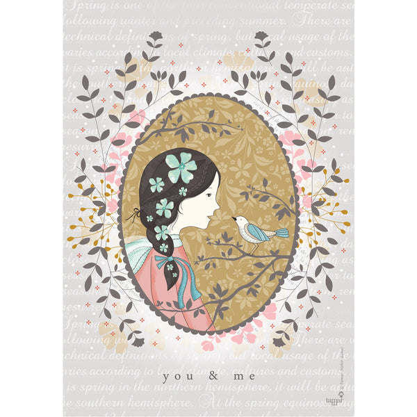 You & Me print wall art